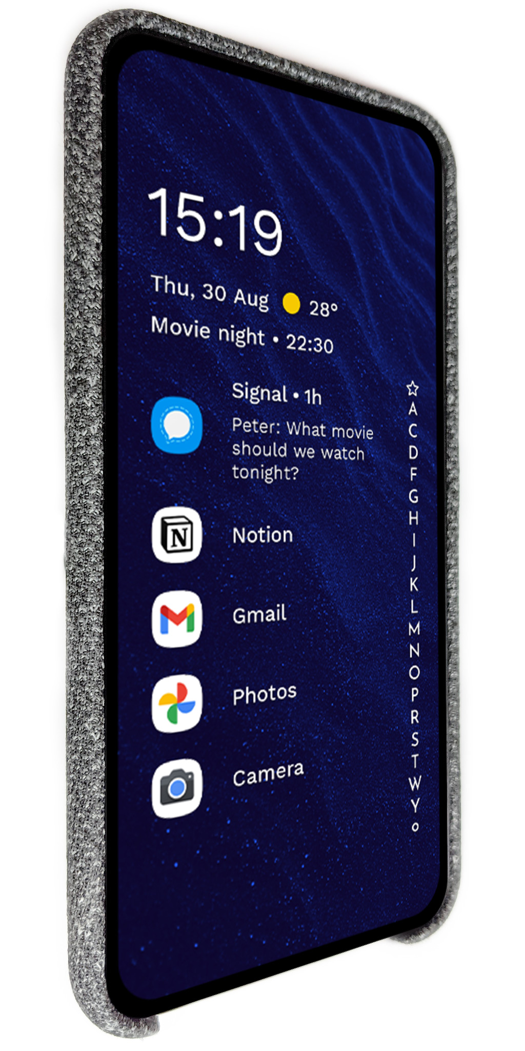 Niagara Launcher displayed on a phone